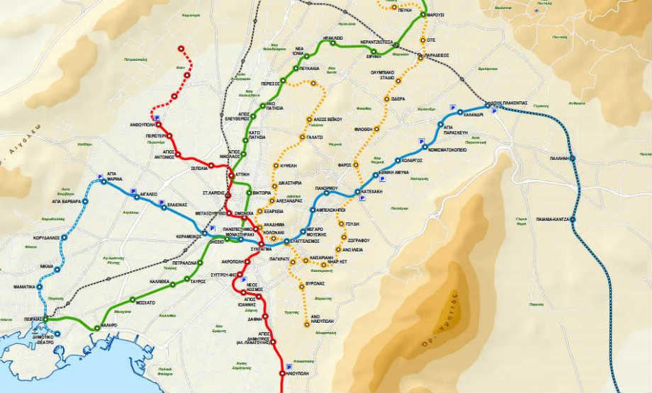 Plan global des lignes de Métro