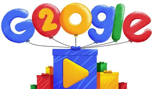 Google doodle 2018 ses 20 ans